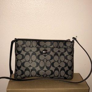 Anagrammed Coach crossbody bag in black